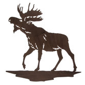 Moose Silhouette Metal Wall Decor